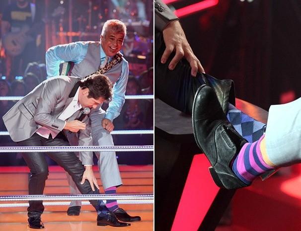Quem disse que a meia não faz parte do look? O Jogo de Cintura vai te mostrar exemplos de gente famosa que segue esta moda (Foto: Reprodução/TV Globo)