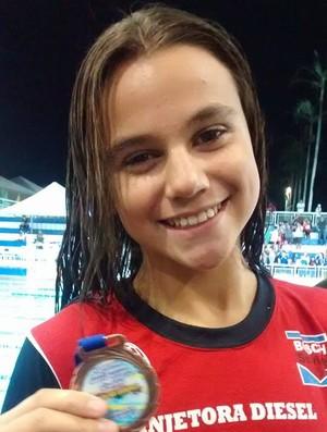 Raíssa Amanda Ramos dos Santos, nadadora de Prudente (Foto: Semepp / Divulgação)
