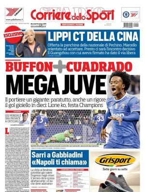 """BLOG: Buffon """"gigante"""", Cuadrado """"gênio"""" e vitória do """"Megajuve"""" ganham jornais italianos"""