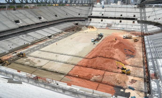 Visão geral da Arena da Baixada, estádio do Atlético-PR (Foto: Site oficial do Atlético-PR/Divulgação)