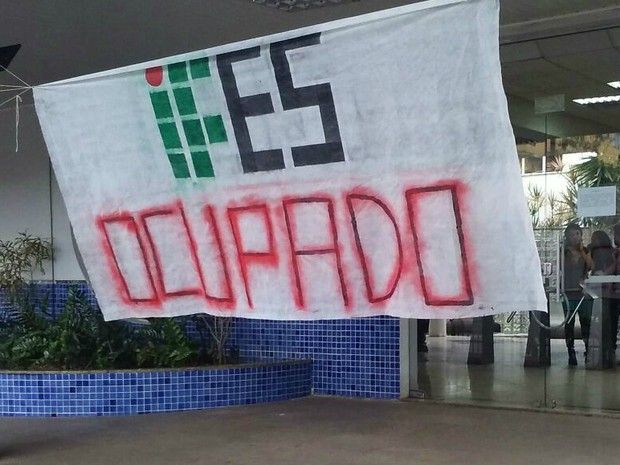 Ifes de Vitória é ocupado (Foto: Rafael Augusto)