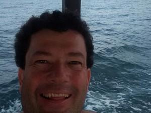 Erlei Eros Misael sobreviveu ao naufrágio (Foto: Erlei Eros Misael/Arquivo pessoal)