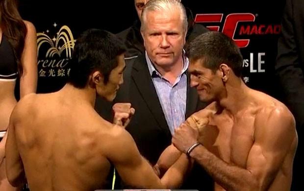 frame pesagem UFC Macau Paulo Thiago (Foto: Reprodução)