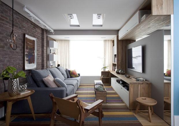 Apartamento compacto e colorido (Foto: Marquinhos / divulga��o)