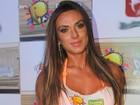 Nicole Bahls curte o carnaval em camarote de Salvador