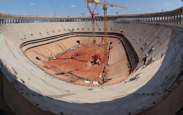 Obras Estádio Nacional de Brasília copa do mundo 2014 (Foto: Arena)