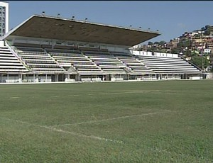Estádio Mamudão é vistoriado pela federação mineira de futebol (Foto: Reprodução InterTV)