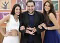 Carol Castro, Tiago Abravanel e Bruna Marquezine são os finalistas do Dança dos Famosos 2013 (Foto: Domingão do Faustão/TV Globo)