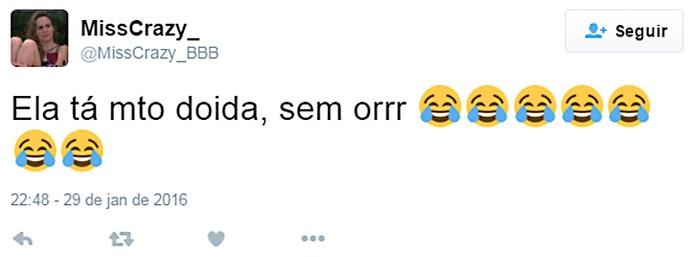 Twitter 4 madrugada casa 30_01 (Foto: TV Globo)