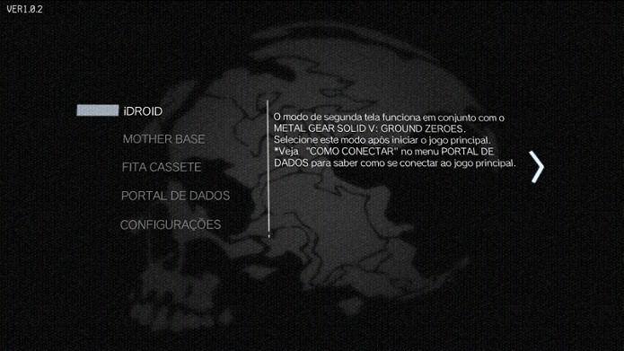 Este é o menu do app (Foto: Thiago Barros/TechTudo)