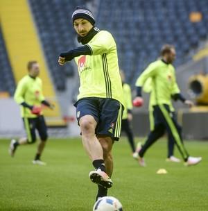 Ibrahimovic treino Suécia (Foto: REUTERS/Fredrik Sandberg)