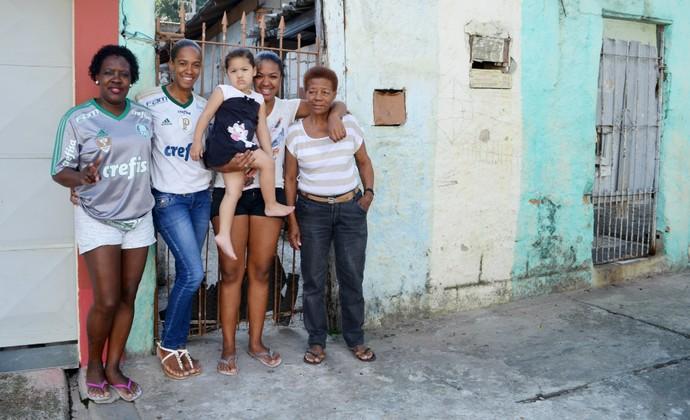 Família goleiro Jailson Palmeiras (Foto: Danilo Sardinha/GloboEsporte.com)