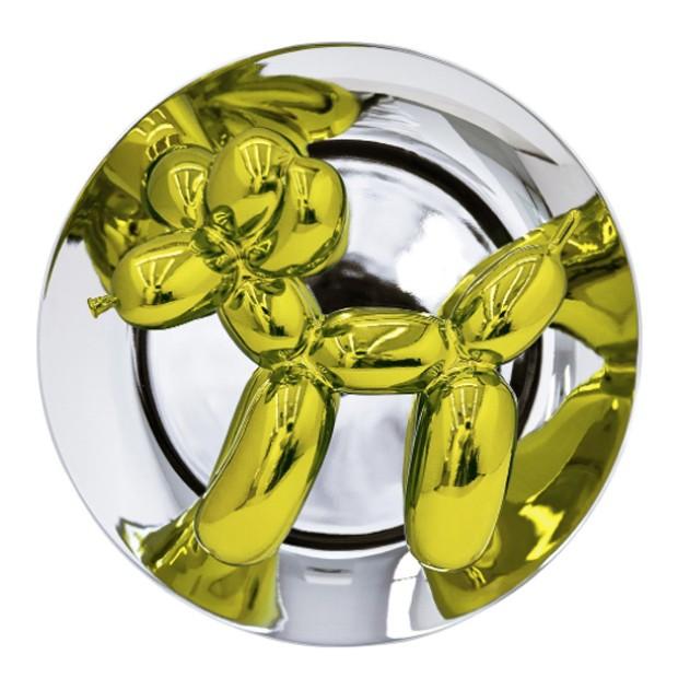 A versão amarela da obra de Koons (Foto: Divulgação)