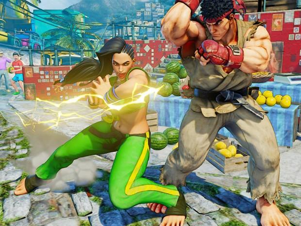 Laura Matsuda, a nova brasileira de 'Street Fighter V', encara o veterano Ryu (Foto: Divulgação/Capcom)