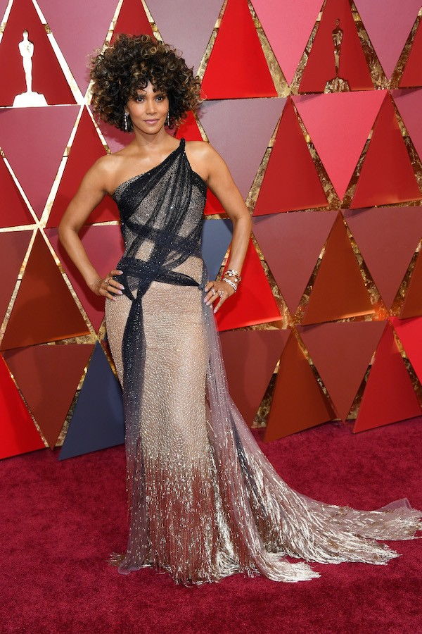 A atriz Halle Berry no Oscar 2017 (Foto: Getty Images)