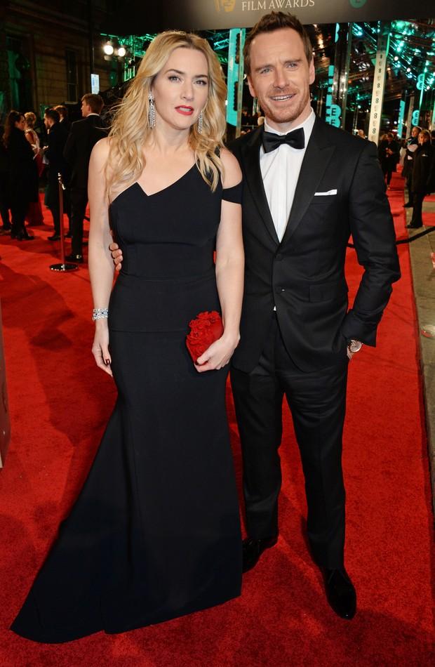 Kate Winslet e Michael Fassbender no BAFTA (Foto: Getty Images)