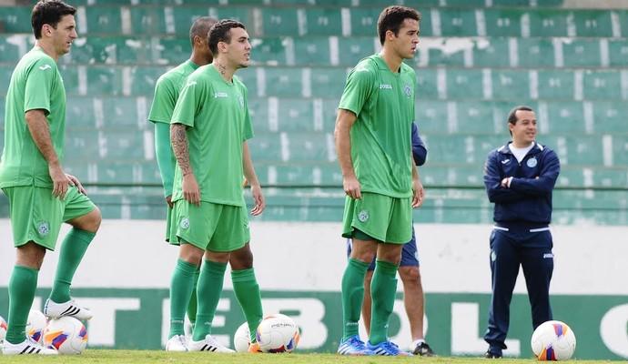 Fumagalli, Watson e Lenon treino Guarani (Foto: Rodrigo Villalba / Memory Press)