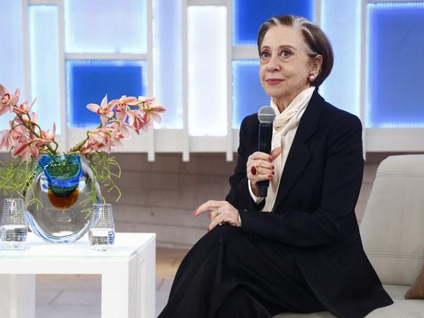 A atriz elogiou a apresentadora, e disse que ela poderia se dar bem na carreira de atriz (Foto: Raphael Dias/Gshow)