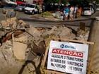 Vazamento interdita trecho de avenida na lateral da Ceasa na capital