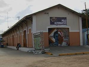 Galpão do Polo Alternativo do São João de Caruaru (Foto: Reprodução/ TV Asa Branca)