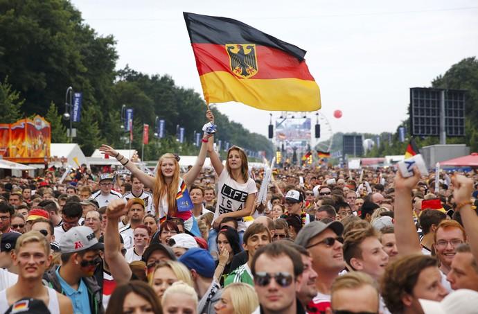 Chegada Alemanha em Berlim (Foto: Reuters)