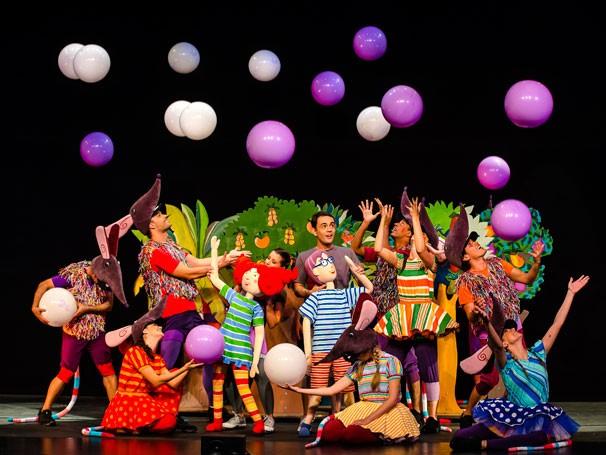 No espetáculo, Pauleco e Sandreca são dois bonecos de 1,40 metros de altura (Foto: Divulgação)