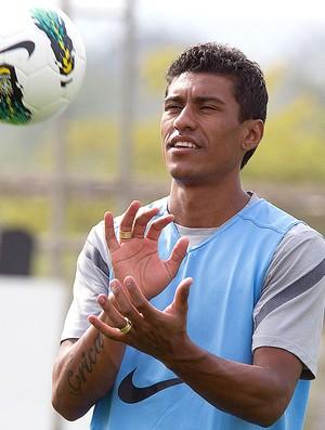 Paulinho no treino do Corinthians (Foto: Daniel Augusto Jr. / Ag. Corinthians)