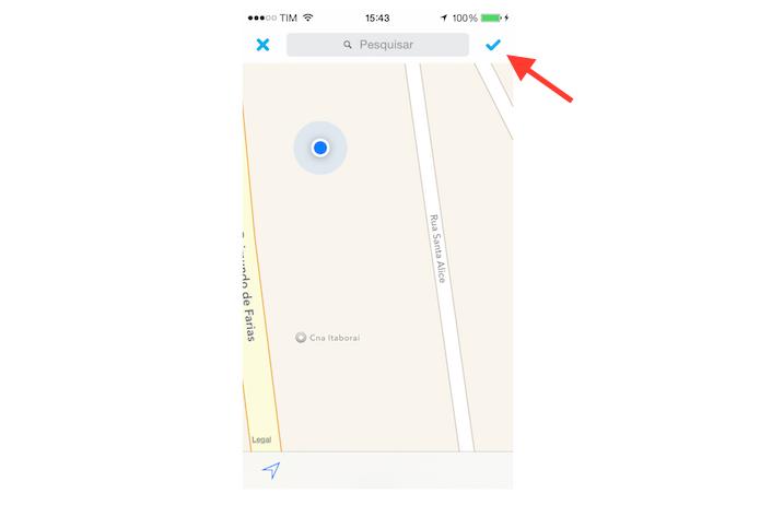 Enviando sua localização atual para um contato do Skype para iPhone (Foto: Reprodução/Marvin Costa)