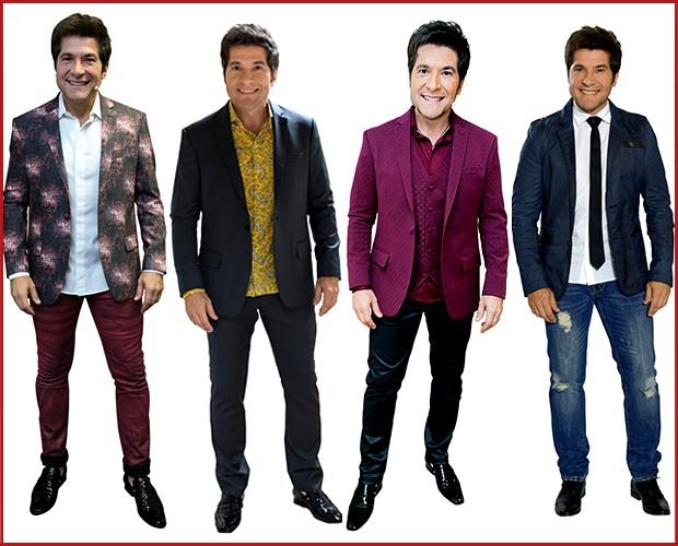 Alguns looks desfilados por Daniel nesta terceira temporada de The Voice (Foto: Camila Serejo / Tv Globo)
