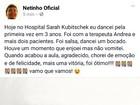 Netinho comemora em post: 'Hoje dancei pela primeira vez em três anos'