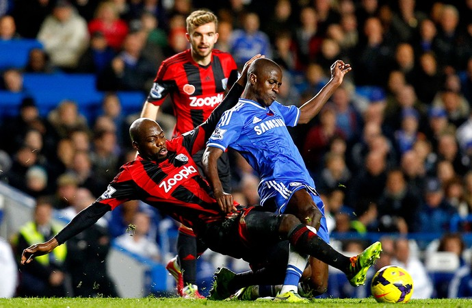 Ramires jogo Chelsea contra West Bromwich (Foto: Getty Images)