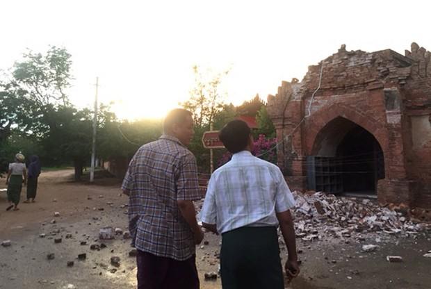 Terremoto danificou vários dos famosos pagodes (templos) de Bagan, região turística do país (Foto: Surapan Boonthanom/Reuters)