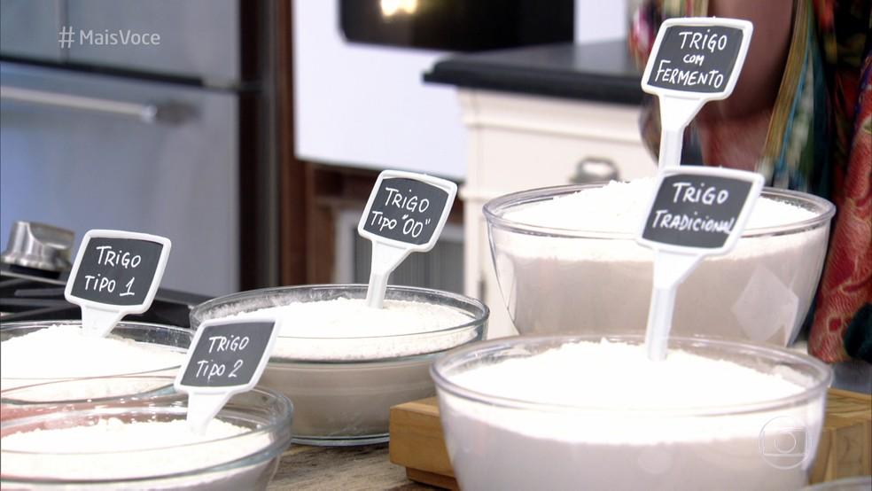 Veja os diferentes tipos de farinha (Foto: TV Globo)