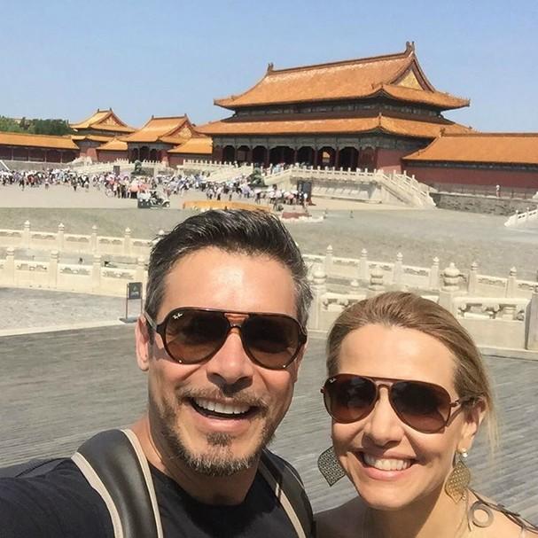 Luigi Baricelli e esposa (Foto: Reprodução/Instagram)