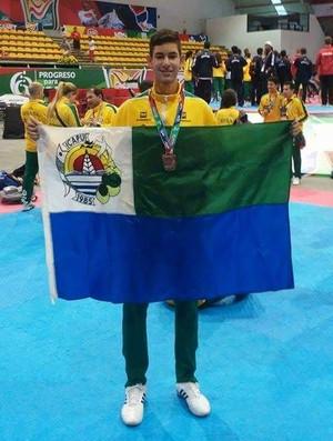 Vitor Hugo, taekwondo, Pan-Americano Júnior, Ceará, México (Foto: Vitor Hugo/Arquivo Pessoal)