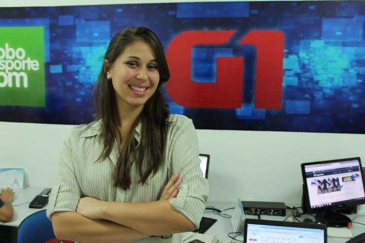 Amanda Franco é repórter do portal G1 da TV Grande Rio.  (Foto: Emerson Rocha)