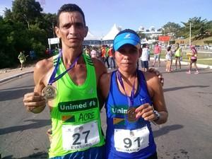 Evandro Saraiva e Rosângela Oliveira disputam Corrida de Reis (Foto: Arquivo pessoal)