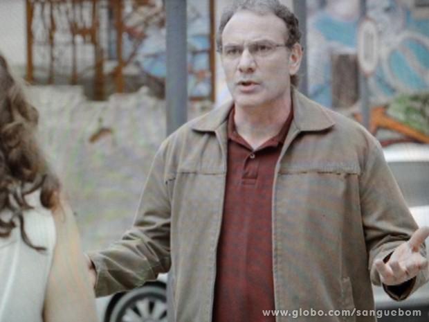 Wilson fica possesso ao saber que Bento quer comprar parque (Foto: Sangue Bom/TV Globo)
