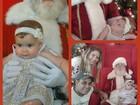 Debby Lagranha leva a filha para ver Papai Noel: 'Meu primeiro Natal'
