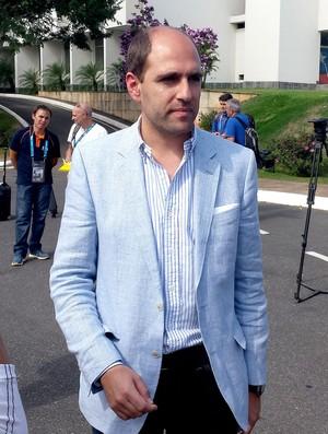 sergio jadue Presidente da associação futebol chilena (Foto: Gabriel Duarte)