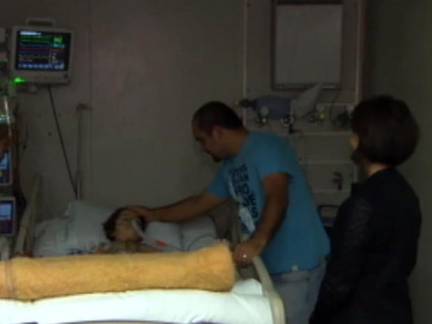 Murilo se recupera na UTI depois de transplante (Foto: Divulgação / Polícia Militar)