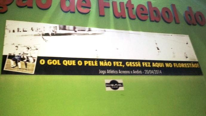 Painel gol Gessé ACre (Foto: Duaine Rodrigues)