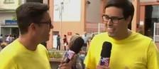 Marcos Paiva conhece  seu 'irmão gêmeo (Reprodução/TVTEM)