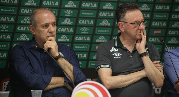Ivan Tozzo e Plínio Filho Chapecoense (Foto: Sirli Freitas/Chapecoense)