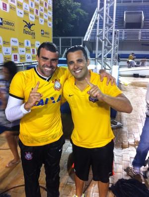 Técnico natação Corinthians (Foto: Guilherme Costa)