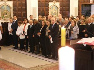 Familiares, amigos e políticos participaram da celebração (Foto: Simone Sartori/Divulgação)