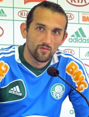 Barcos, treino do Palmeiras (Foto: Diego Ribeiro / Globoesporte.com)