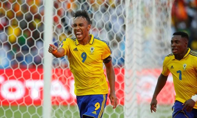 Aubameyang marcou o primeiro gol da Copa Africana