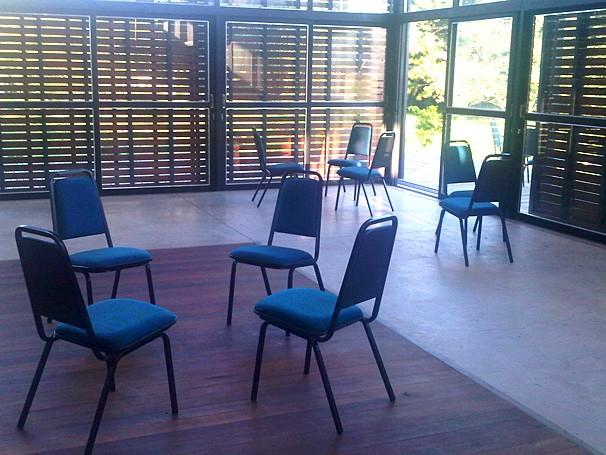 Sala de atendimento de estudantes da UFSM no Centro de Acolhimento (Foto: Divulgação)