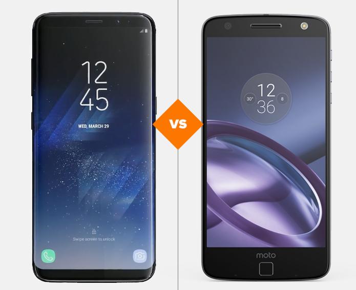 Galaxy S8 e Moto Z: veja o comparativo de ficha técnica (Foto: Arte/TechTudo)